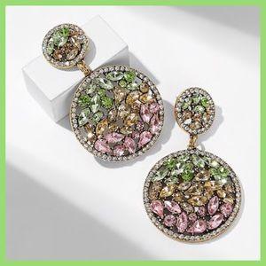 Jewelry - Esperance Engraved Rhinestones Earrings